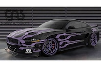 Mustang GAS Black Purple Elec Flames