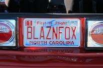 Foxtoberfest Fox Mustang Vanity Plate 67