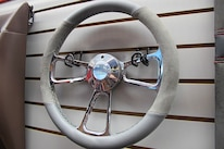 12 TMI Products Steering Wheel Gray Leather