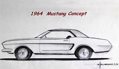 Gale Halderman Design Sketch Of 1964 Ford Mustang Concept