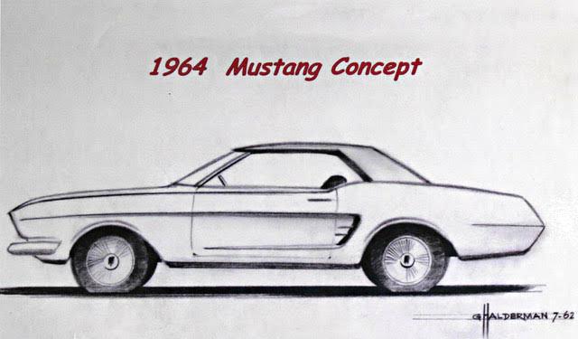 Gale Halderman Design Sketch Of 1964 Ford Mustang Concept