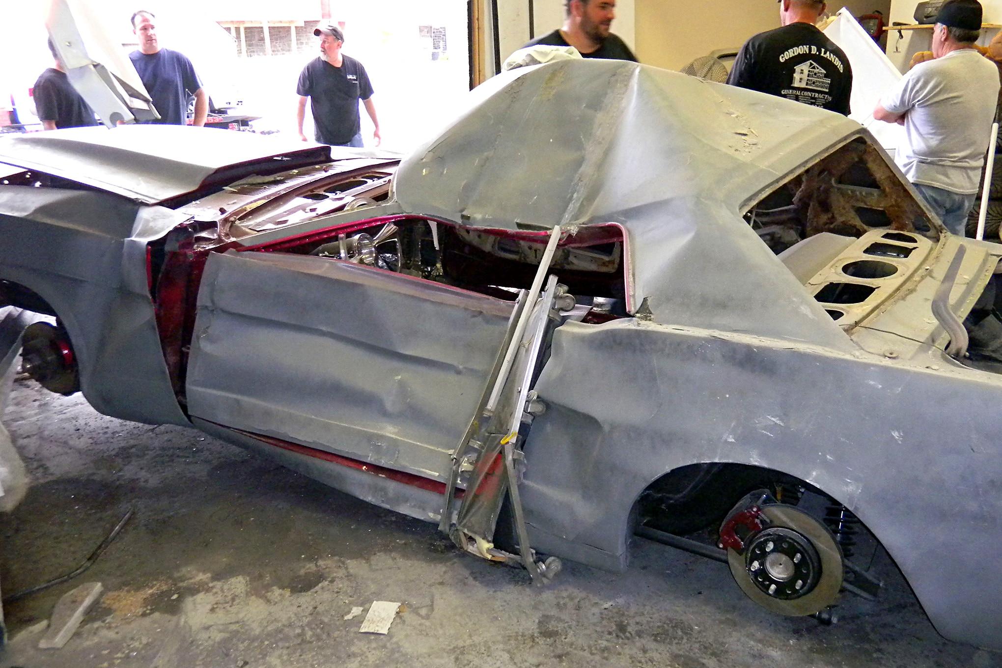 038 1966 Mustang Wreck Side