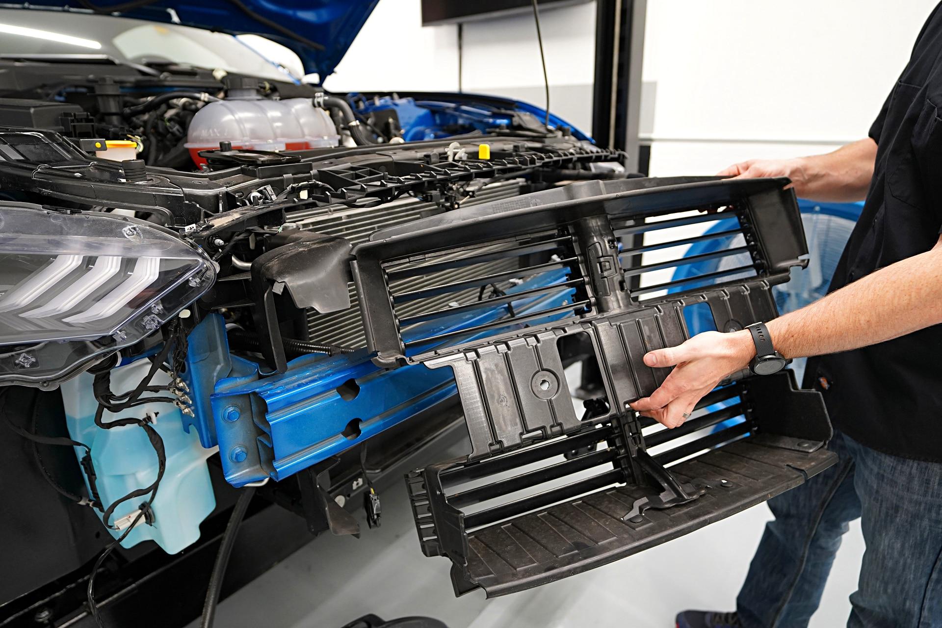 006 Mustang Radiator Shutter Removal