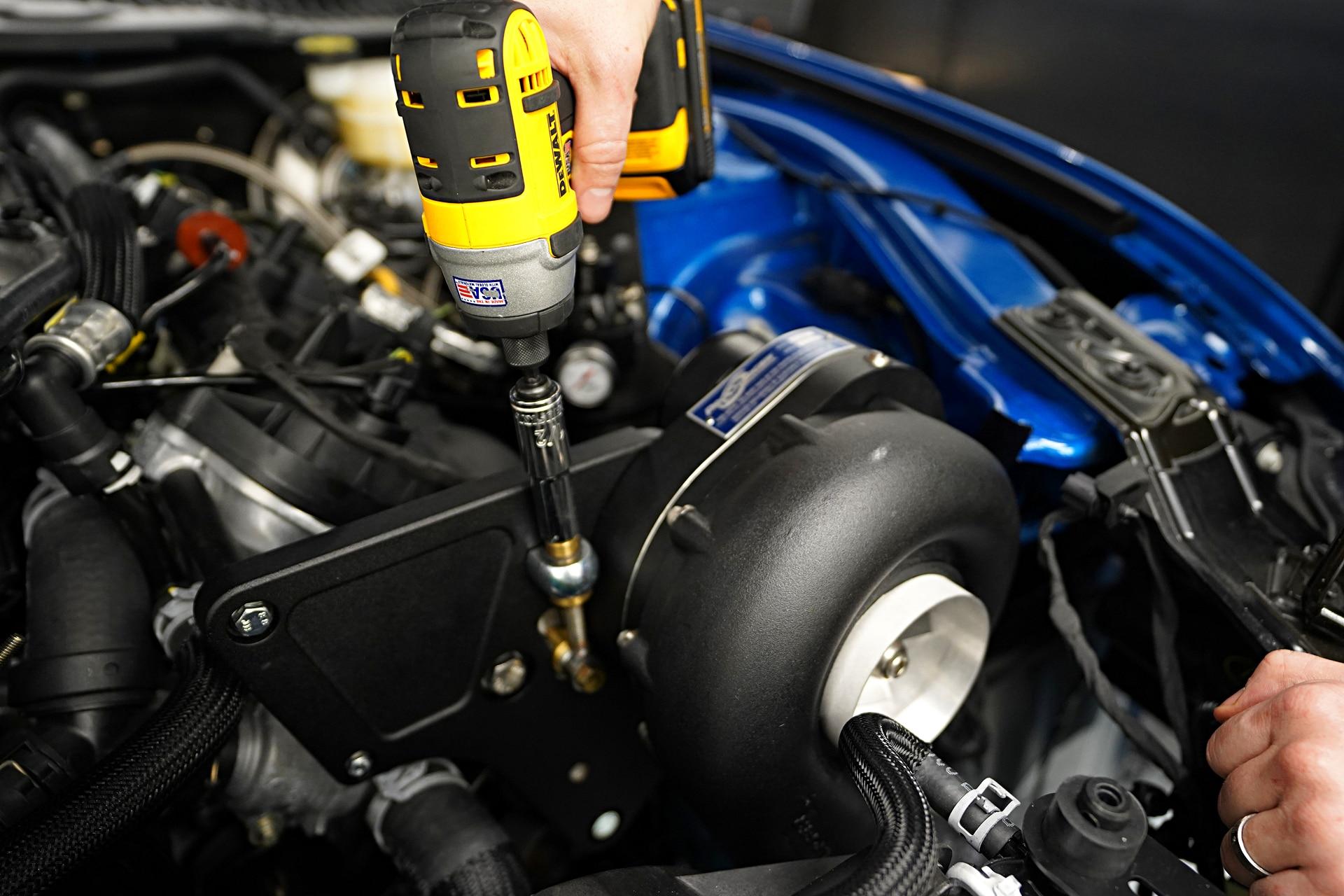021 Mustang Procharger Belt Tensioner Setup