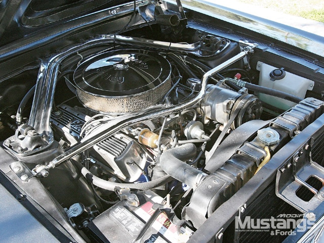 Ford Mustang Engine Compartment With Monte Carlo Bar