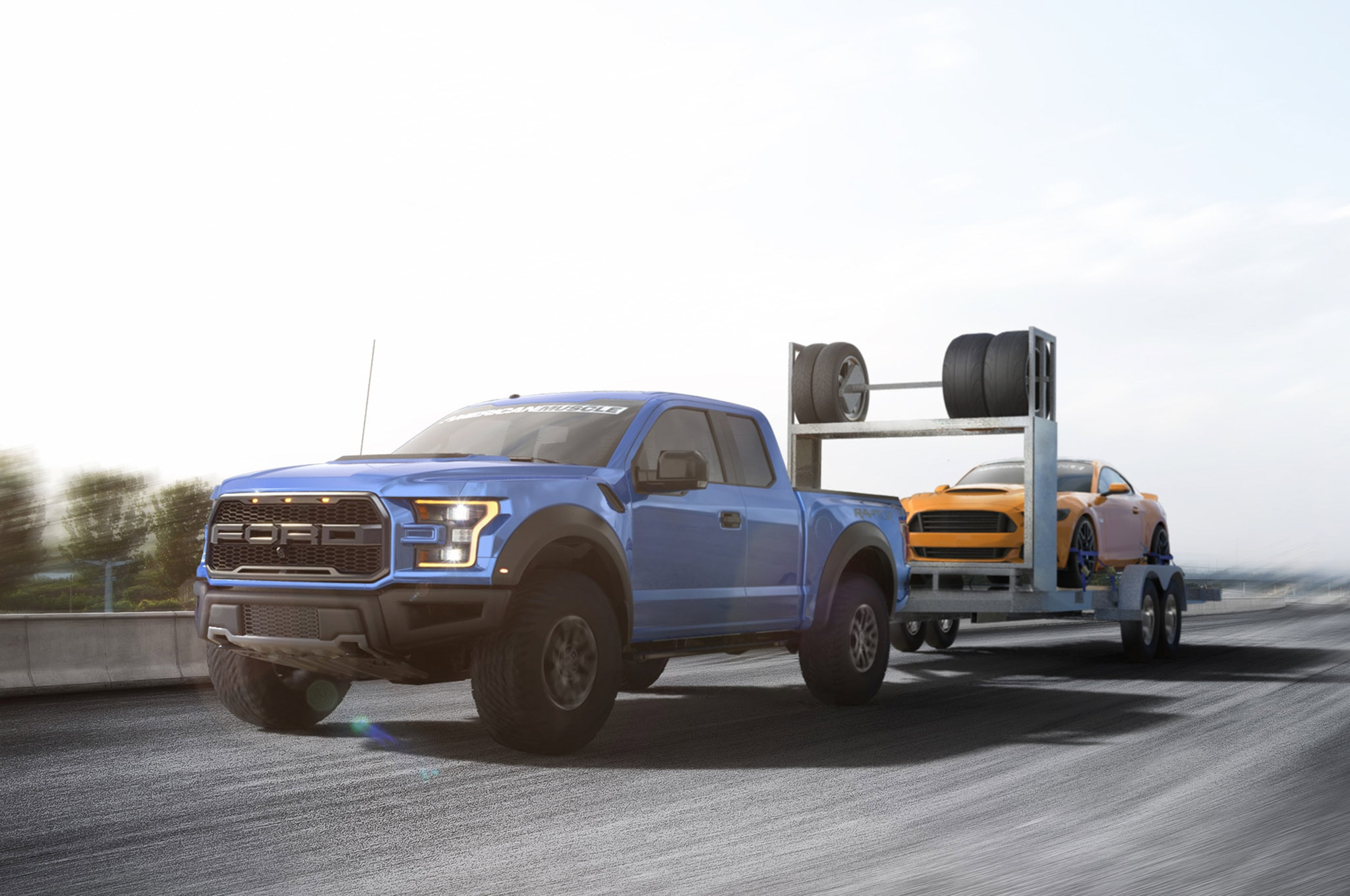 03 2017 Ford Raptor Towing 2015 Ford Mustang Photo 174896462
