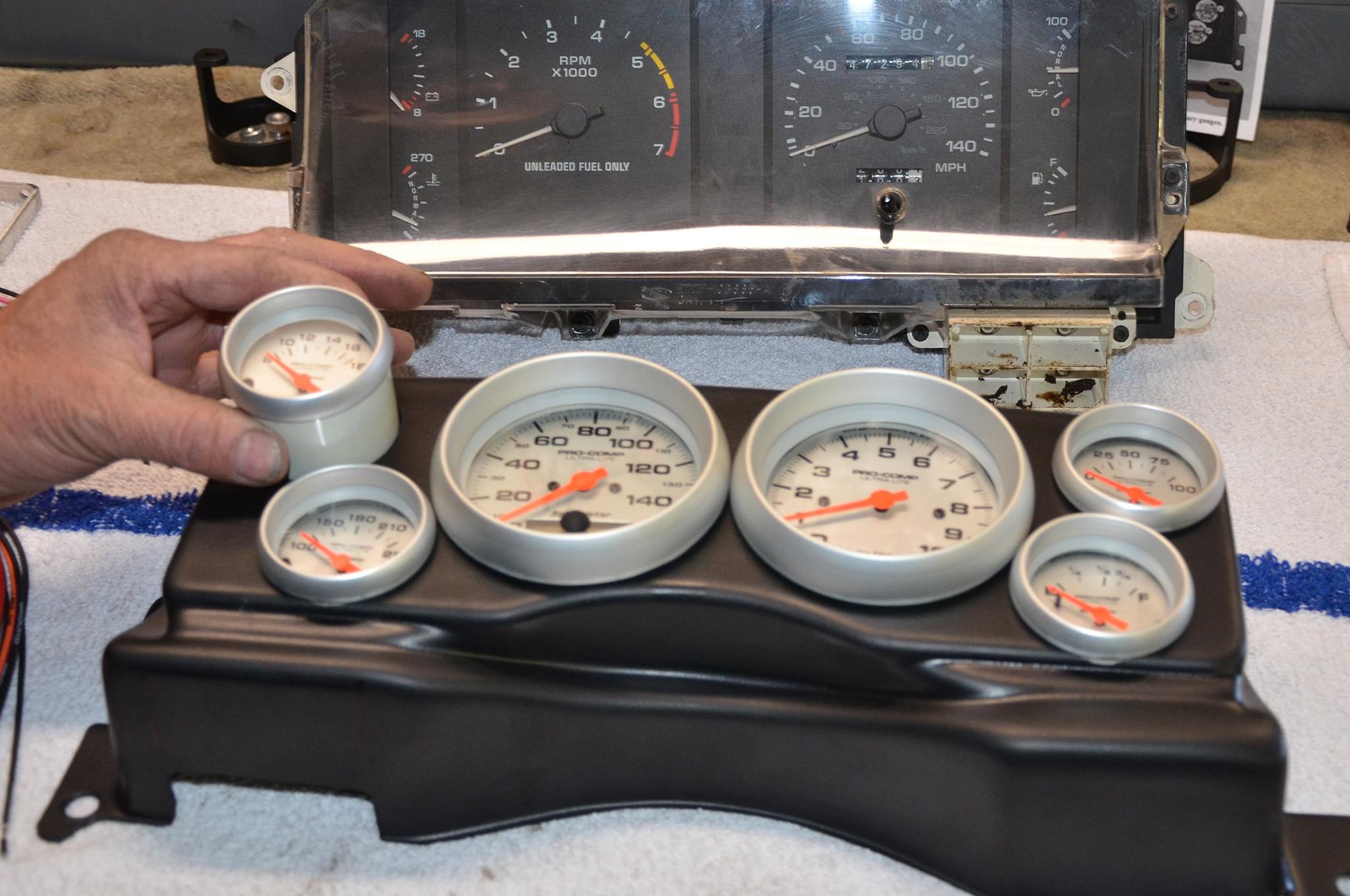 4 Installing Fox Body Classic Dash Gauge Panel