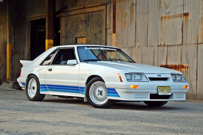 1 1985 Saleen Mustang Front Three Quarter