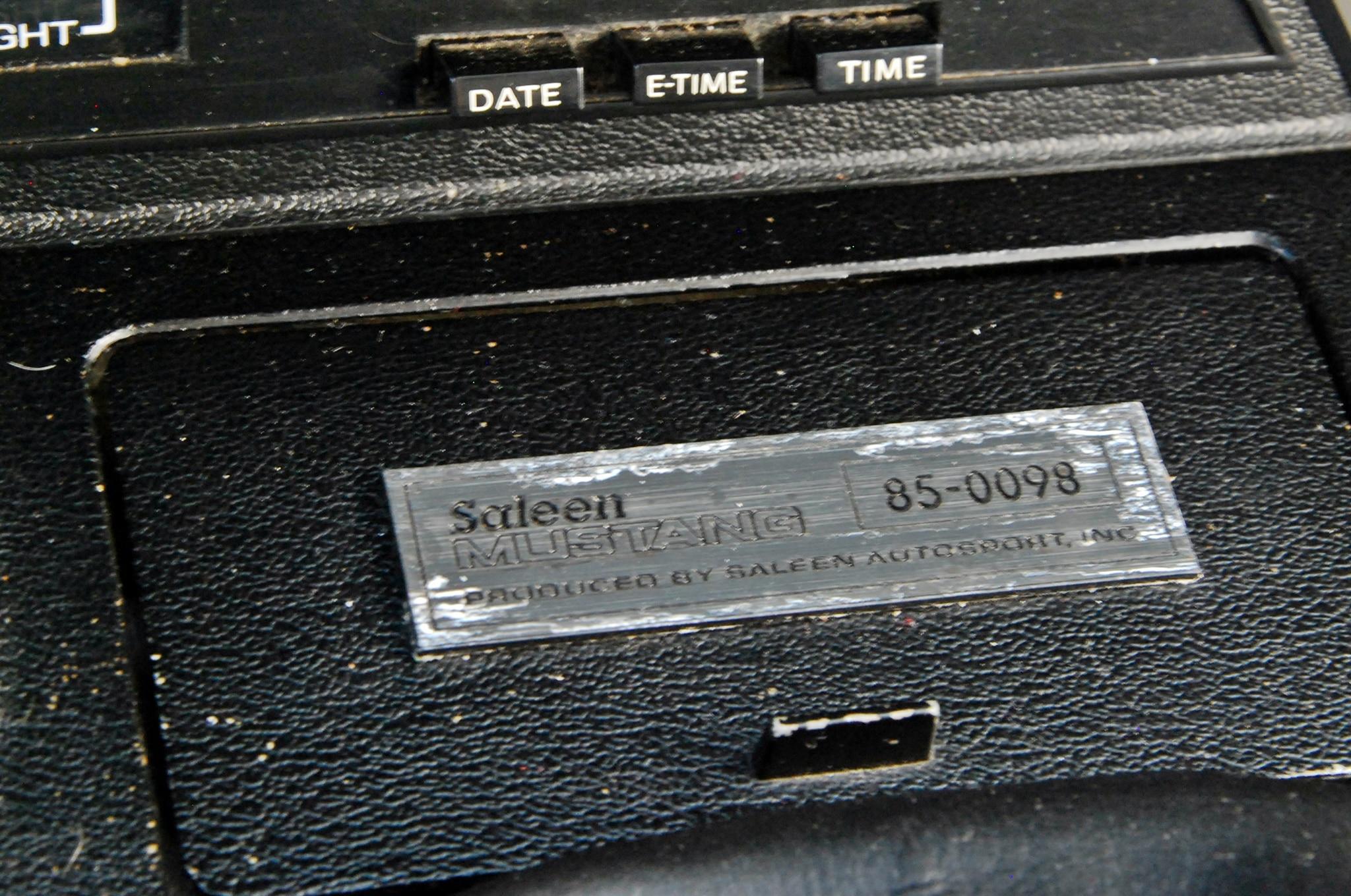 09 1985 Saleen Mustang Id Plate