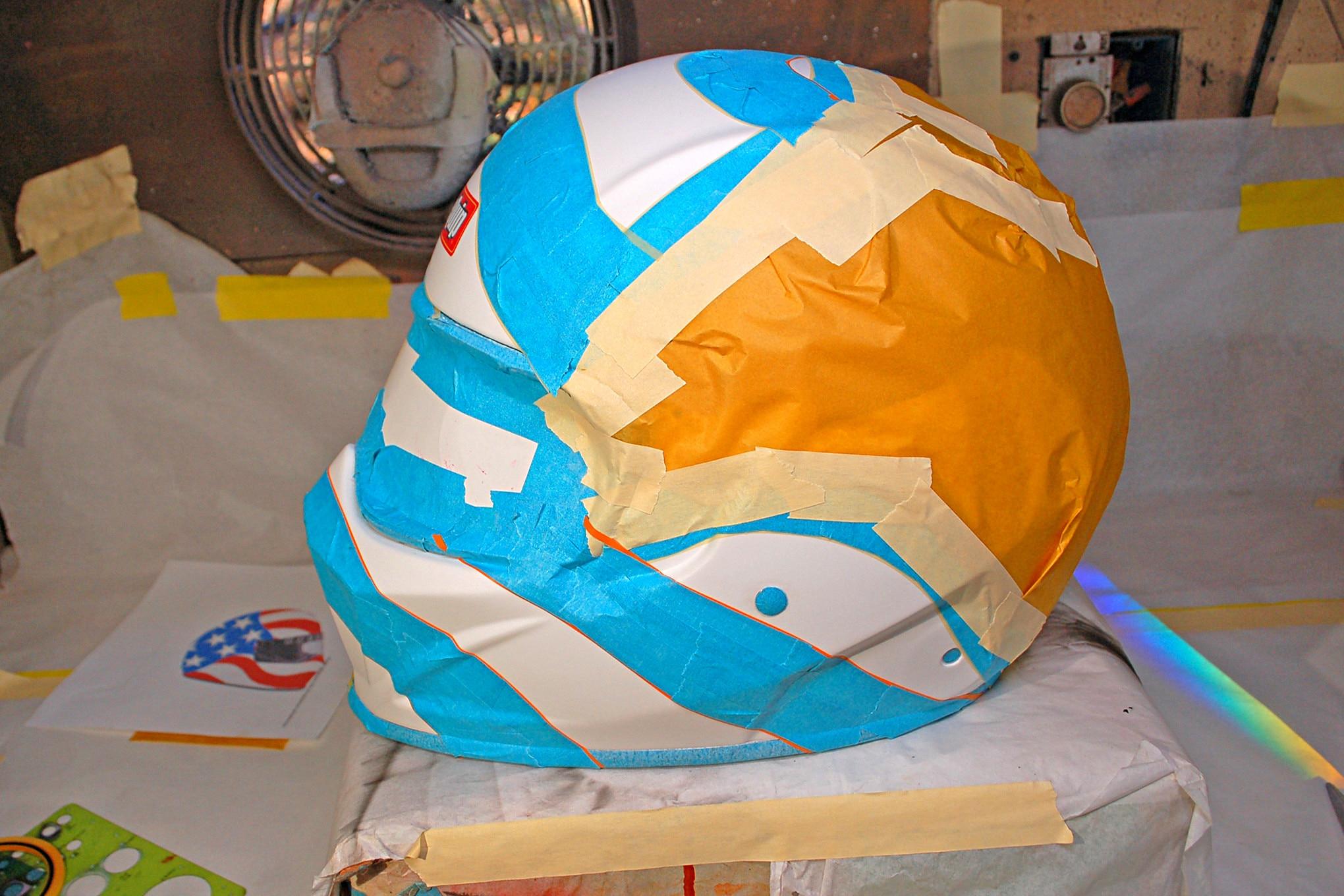 007 Helmet Flag Paint Masking Tape
