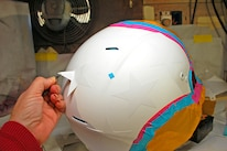 009 Helmet Flag Paint Stars Layout