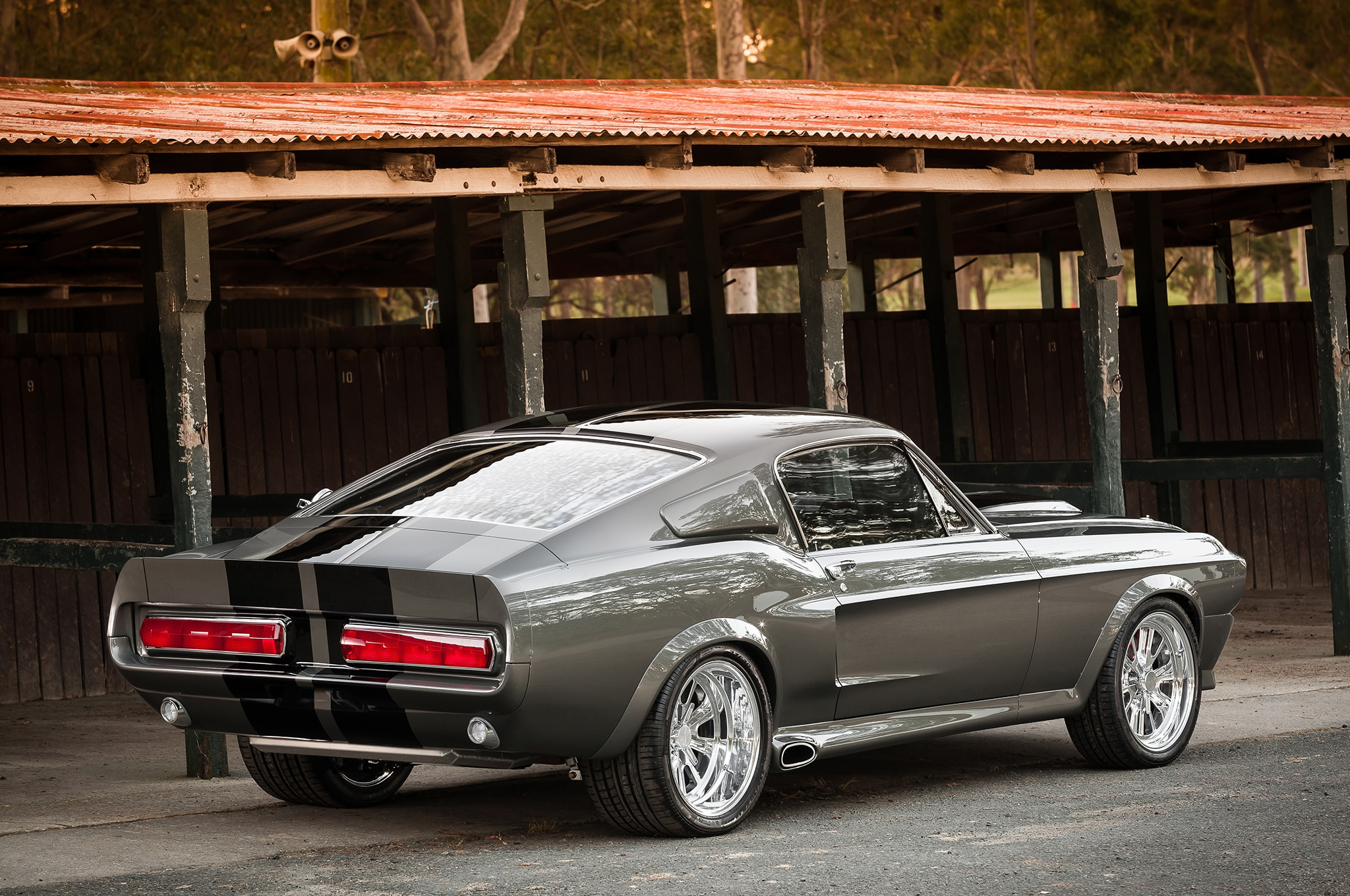 1967 Ford Mustang Rear Side View