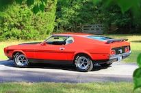05 1971 Ford Mustang Boss 351 Red Rear Three Quarter