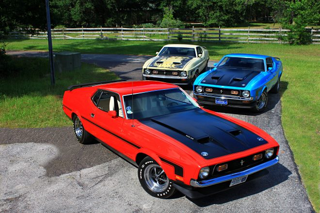01 3 1971 Ford Mustang Boss 351s Group Shot 660x440