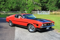 43 1971 Ford Mustang Boss 351 Red Front Three Quarter