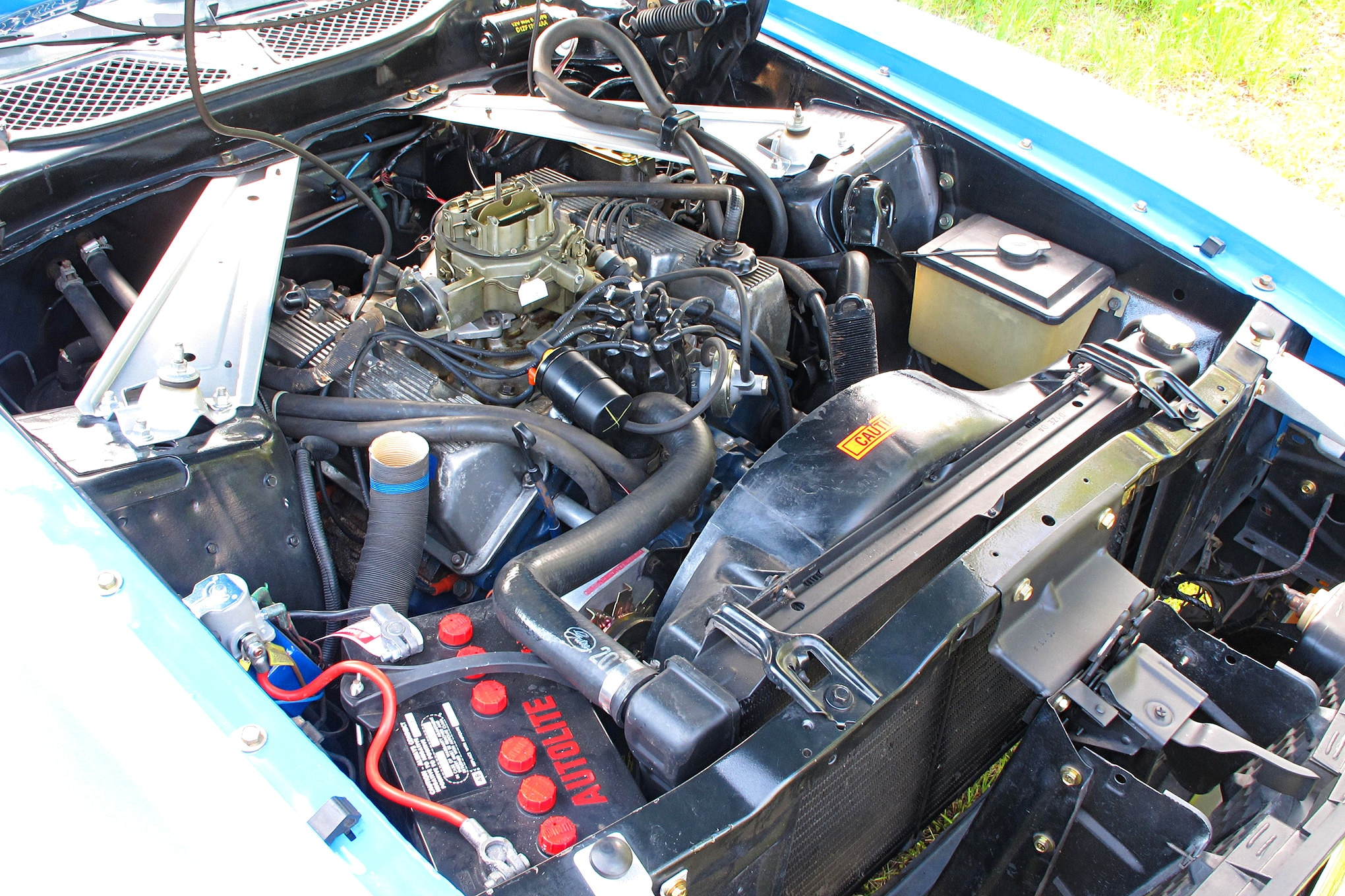 54 1971 Ford Mustang Boss 351 Blue Engine Without Air Filter