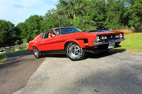 47 1971 Ford Mustang Boss 351 Red Front Three Quarter