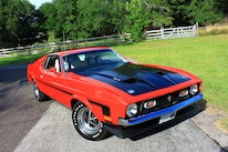 45 1971 Ford Mustang Boss 351 Red Front Three Quarter