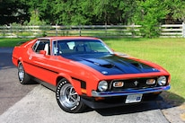 42 1971 Ford Mustang Boss 351 Red Front Three Quarter
