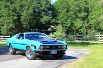 36 1971 Ford Mustang Boss 351 Blue Front Three Quarter