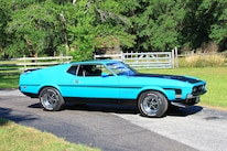 35 1971 Ford Mustang Boss 351 Blue Front Three Quarter