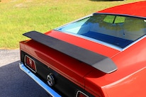 23 1971 Ford Mustang Boss 351 Red Deck Wing