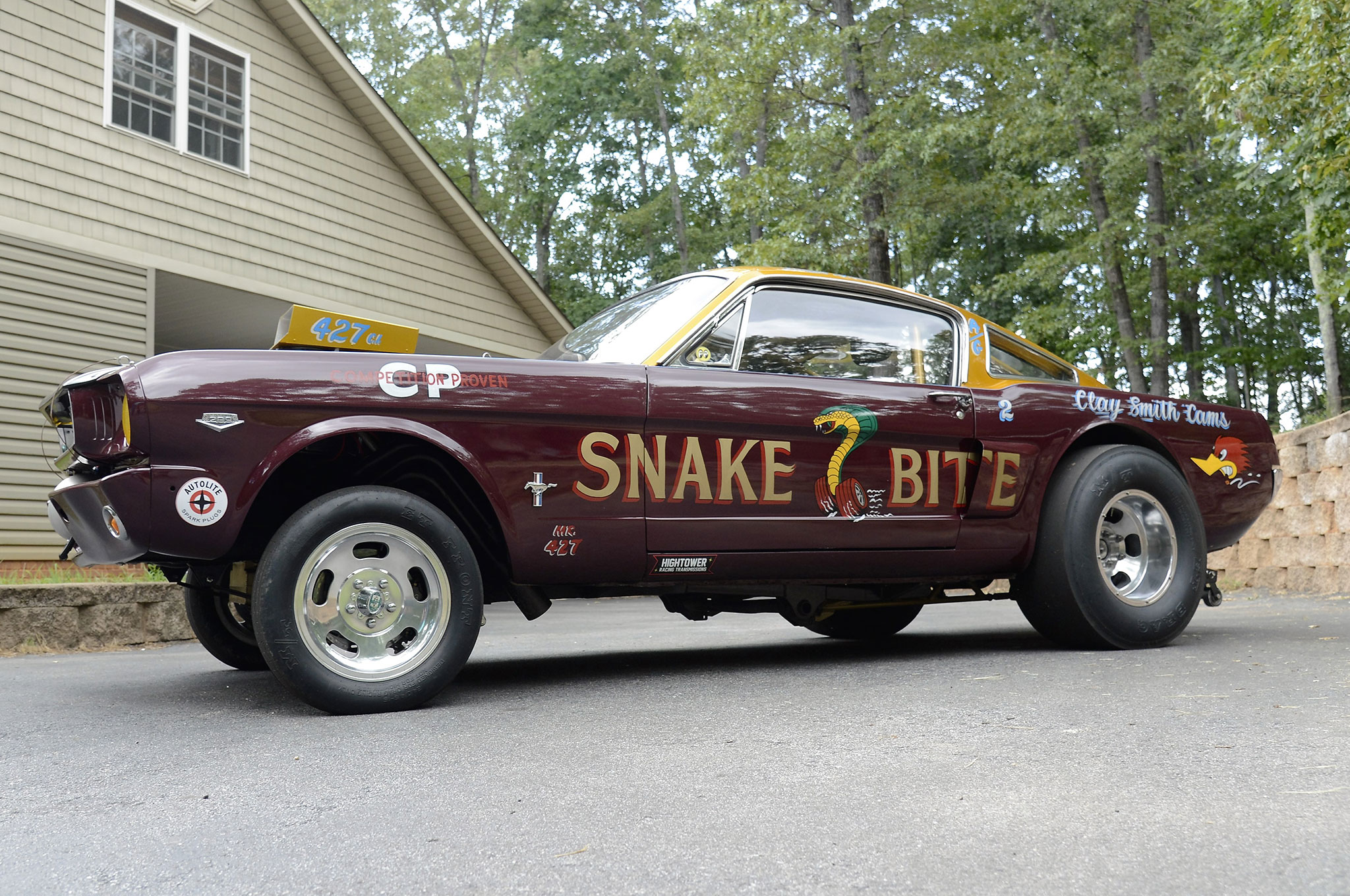 1965 ford mustang side view