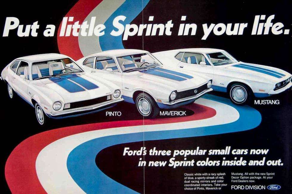 The sprint décor group option was conceived to jumpstart sagging sales during one of the mustangs worst sales years the package was one of the most