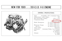 1969 Ford Mustang Mach 1 351 V8 Engine