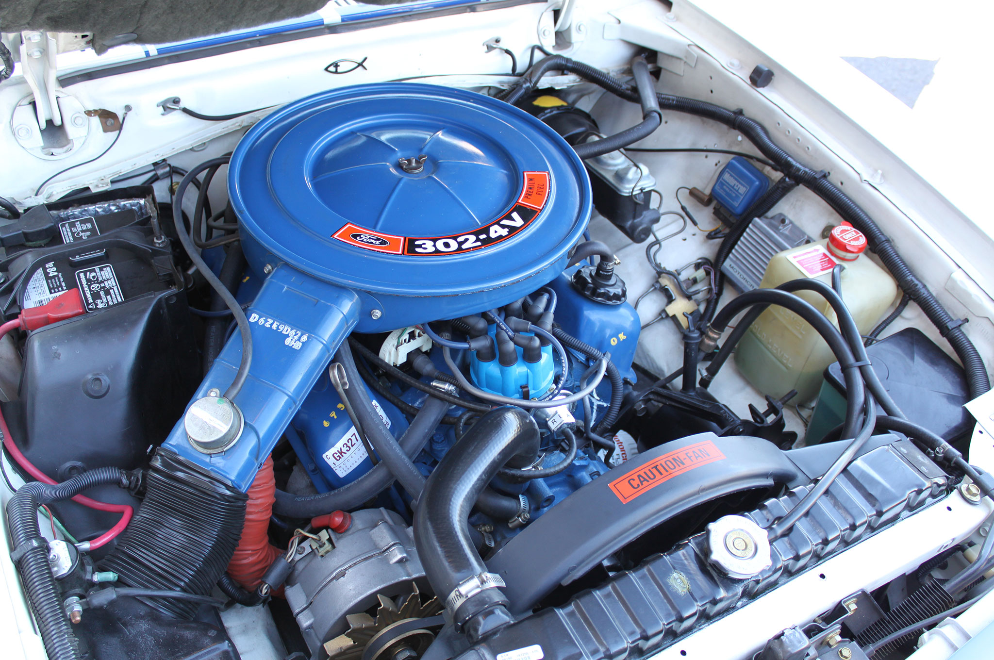 1976 Ford Mustang Cobra Engine Bay