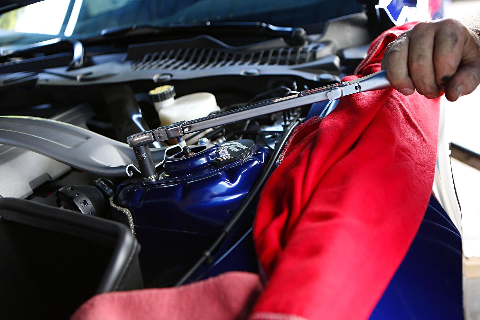 S550 Ford Mustang Maximum Motorsports Plates Install 026