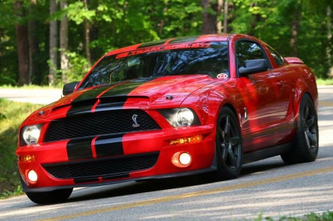 2009 Ford Mustang Red Black