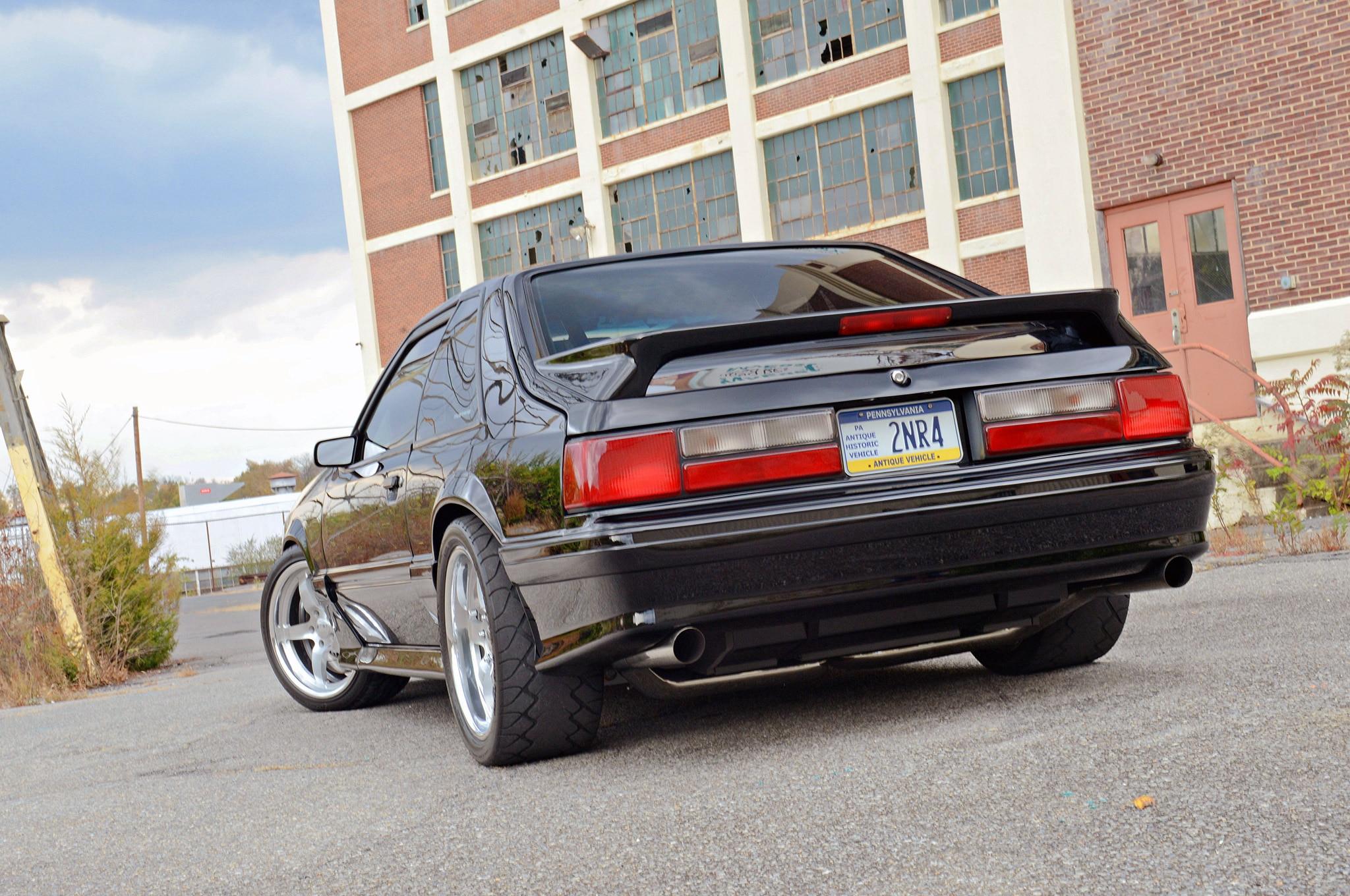 Scott 1988 Ford Mustang Gt Hartrick Gt Rear Quarter View