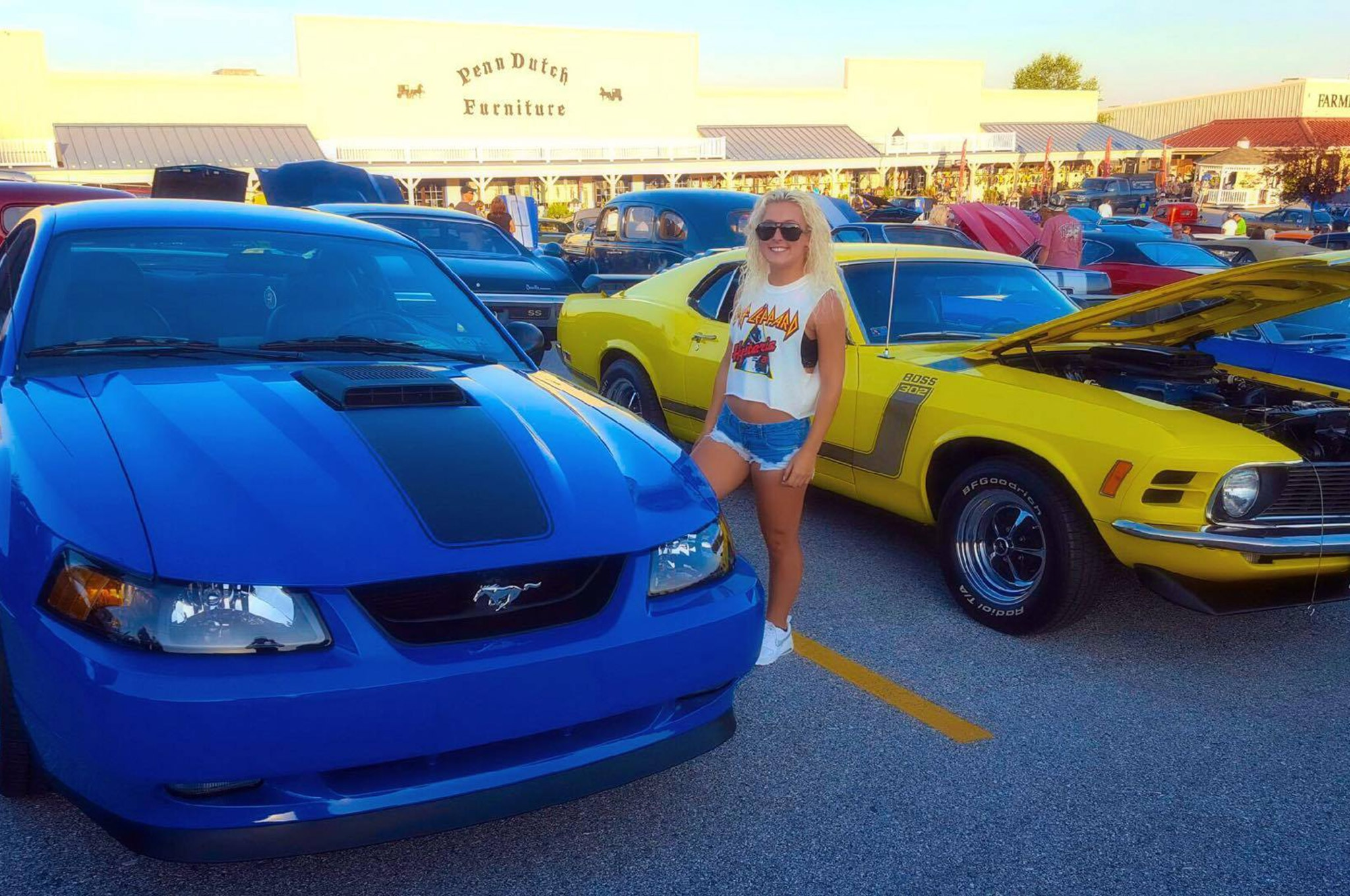 2003 Ford Mustang Mach 1 Azure Blue 018 Photo 224322491 Mustang Girl Monday Carlee Shoemaker And Her 2003 Mach 1