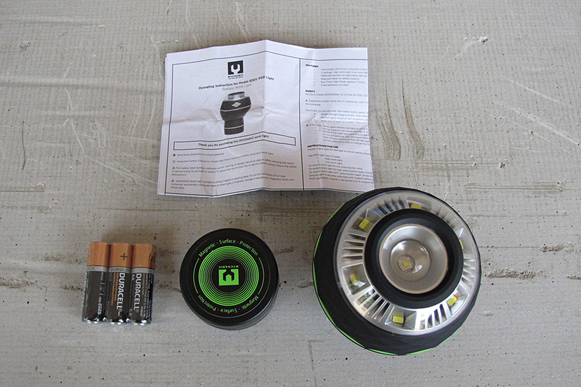 Mychanic 002 Pod Light Package Contents