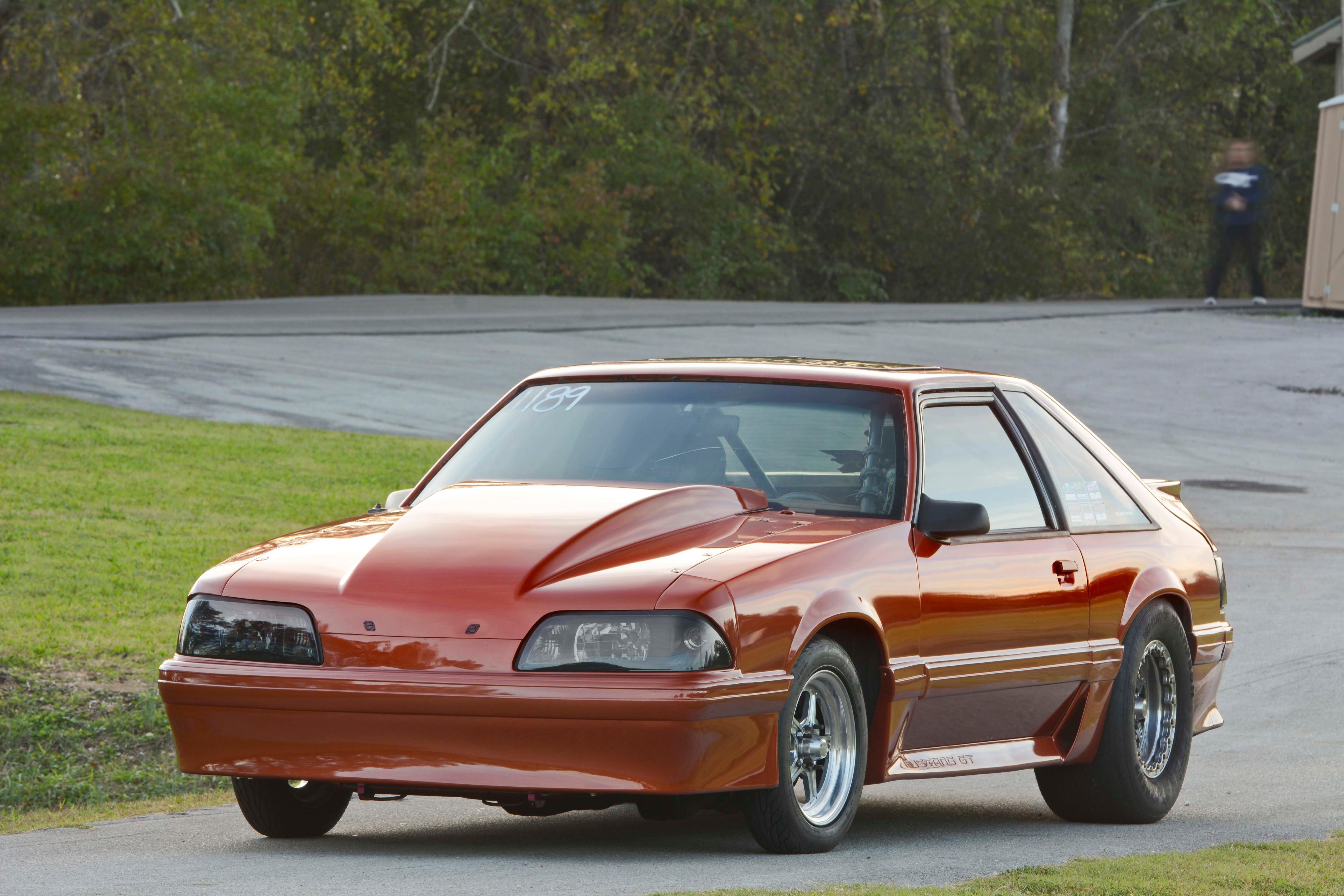 027 Orange Procharged Mustang Overalls
