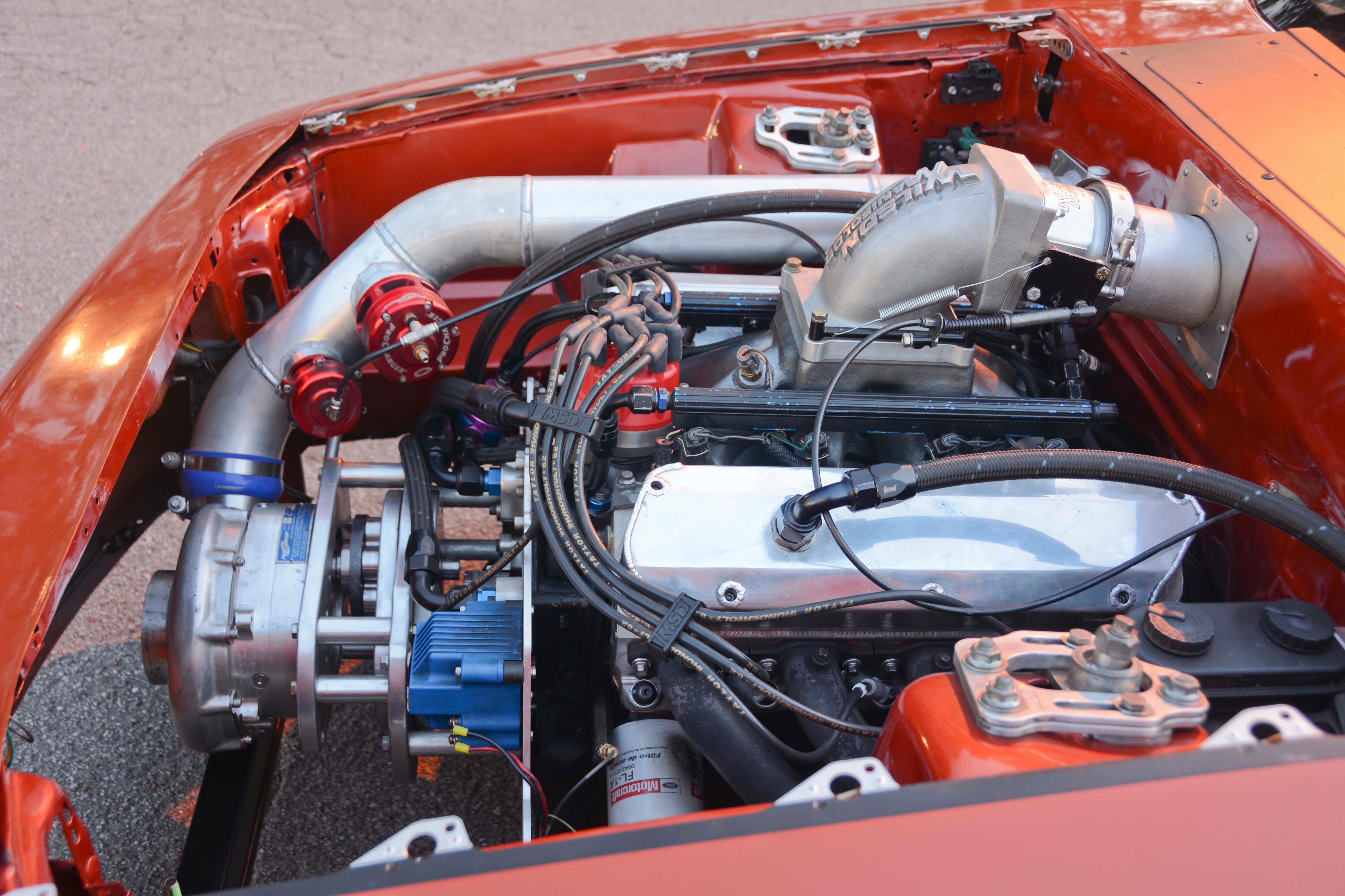 023 Orange Procharged Mustang Details