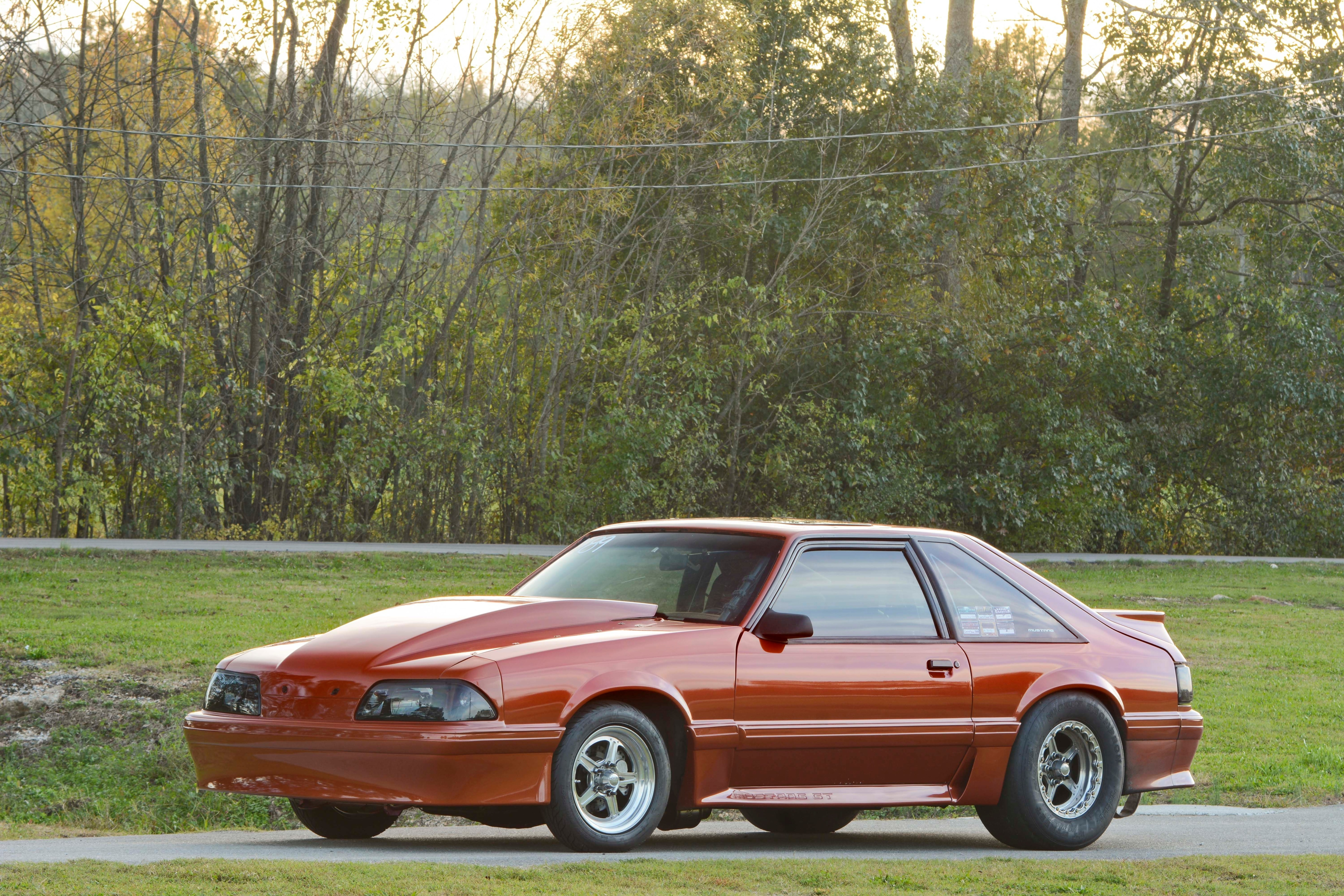 028 Orange Procharged Mustang Overalls