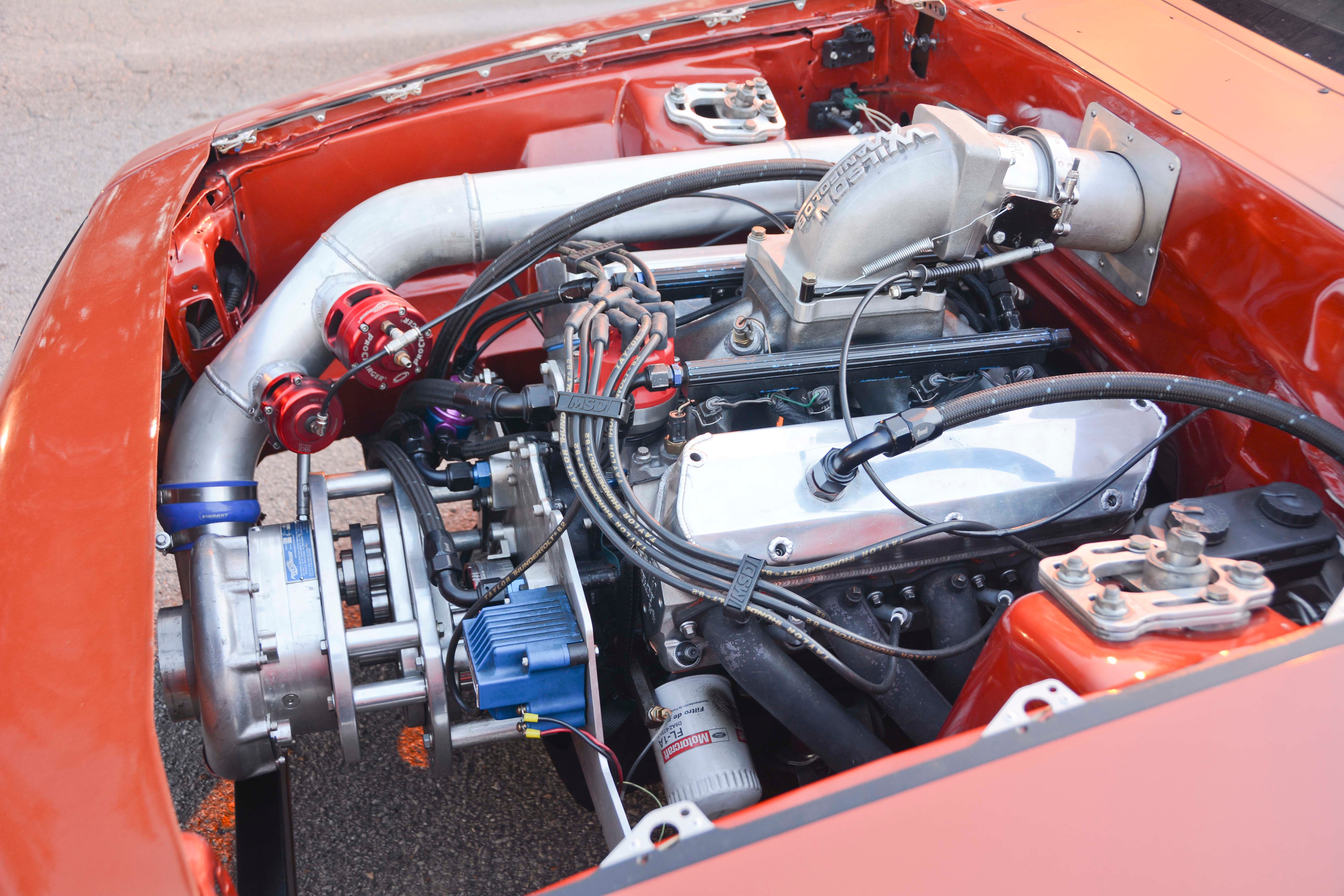021 Orange Procharged Mustang Details