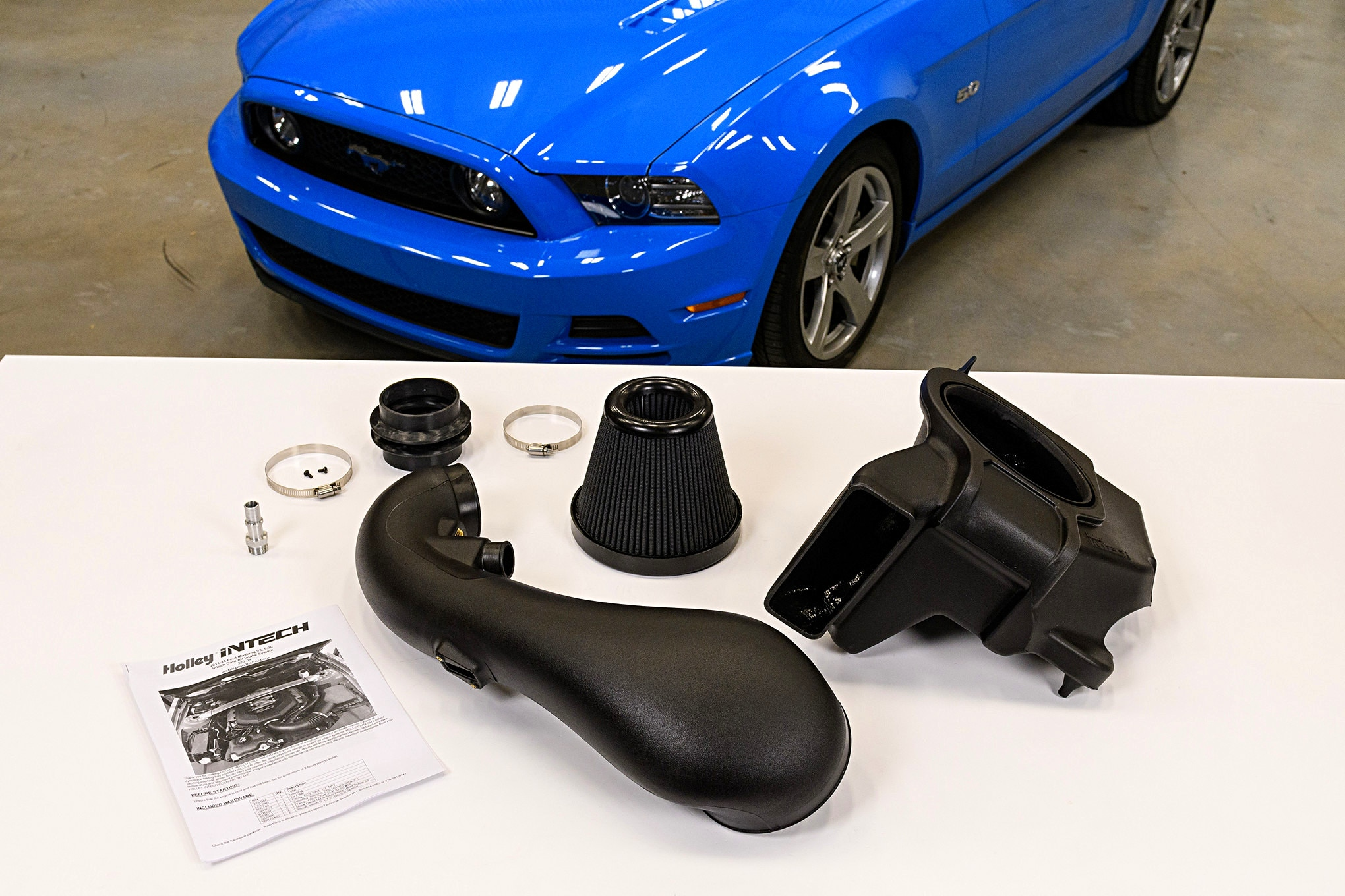 Holley INTECH Cold Air Intake Mustang Gt 002