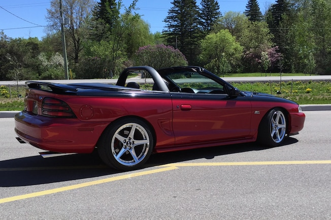 1995 Ford Mustang Gt Red Convertible