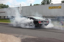 10 QA1 Open House Car Show Burnout 1969 Ford Mustang SportsRoof
