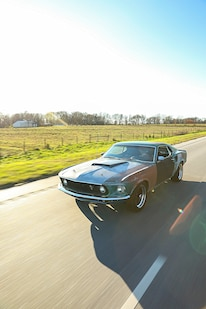 025 1970 Mustang Muscle Rat Rod Driving