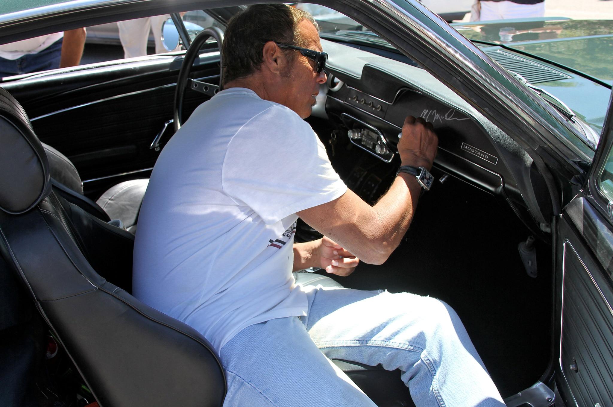 Chad McQueen Signing John Jeffers Glovebox
