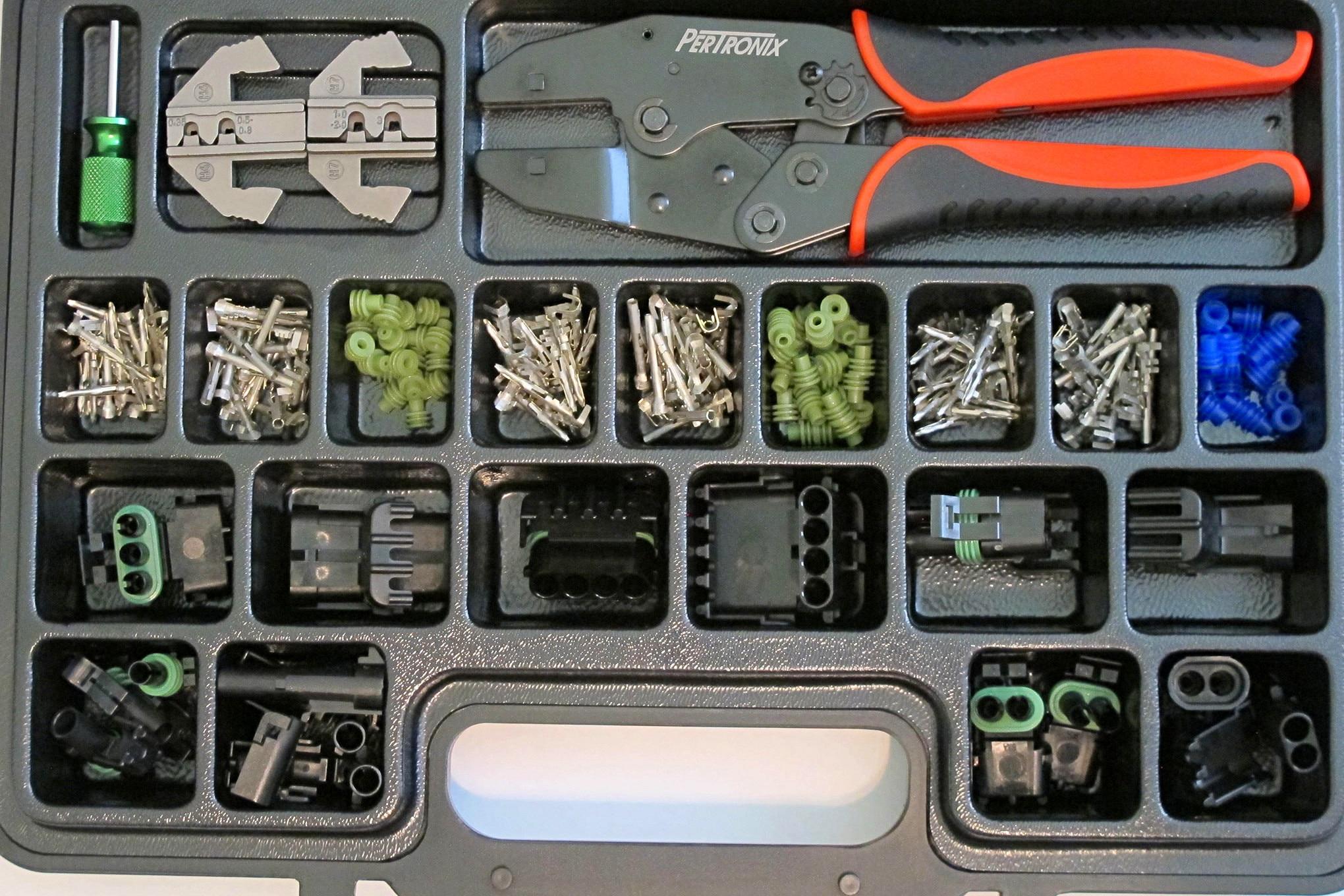 03 Pertronix Quick Change Weather Pack Crimper Kit T3005
