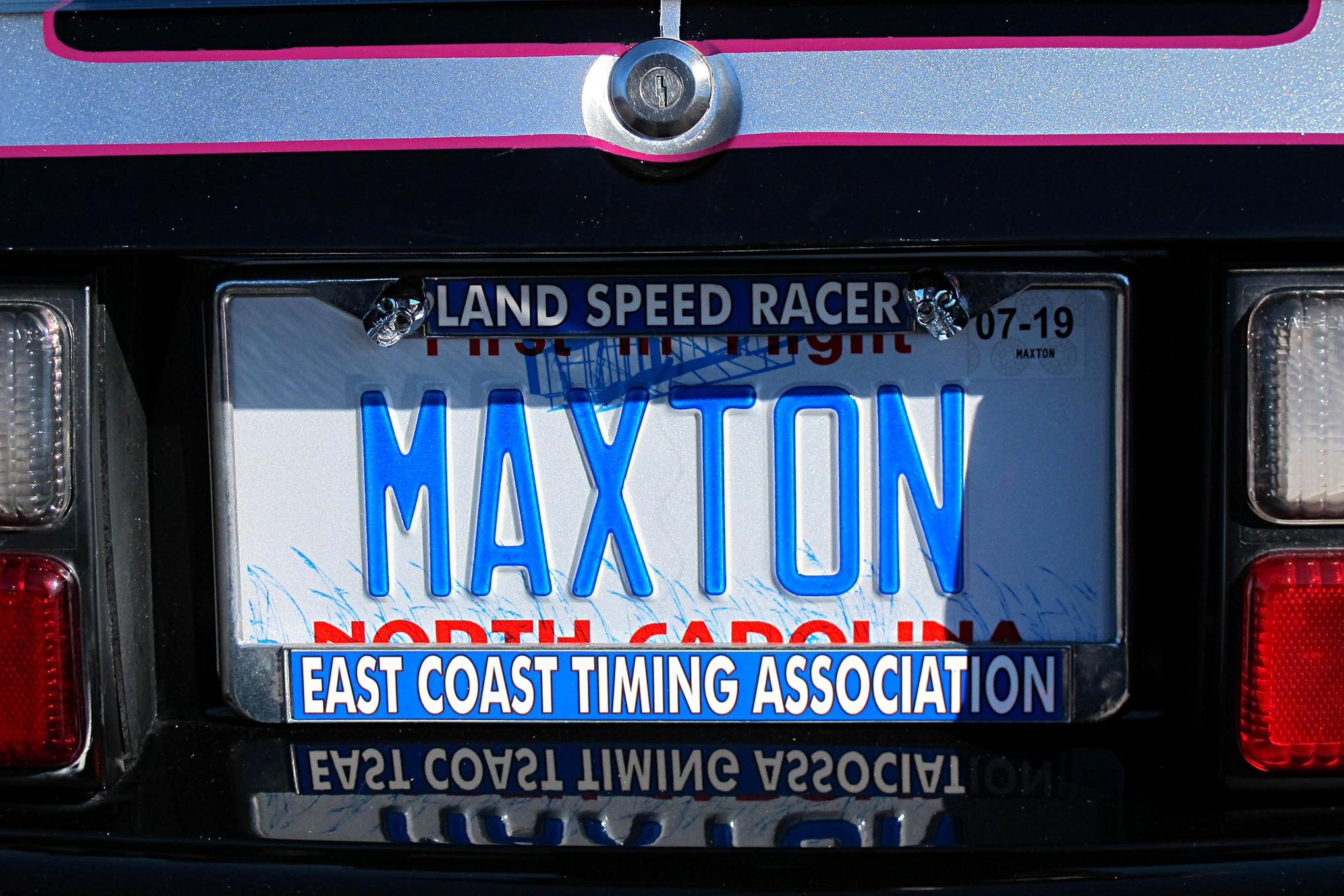 Foxtoberfest Fox Mustang Vanity Plate 64