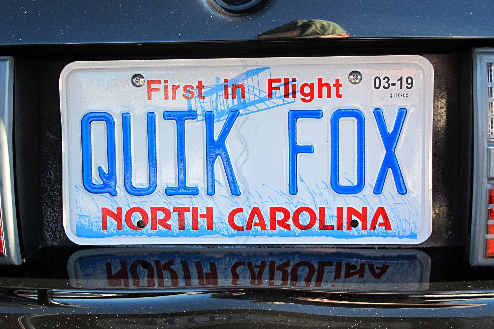 Foxtoberfest Fox Mustang Vanity Plate 24