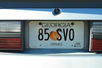 Foxtoberfest Fox Mustang Vanity Plate 4
