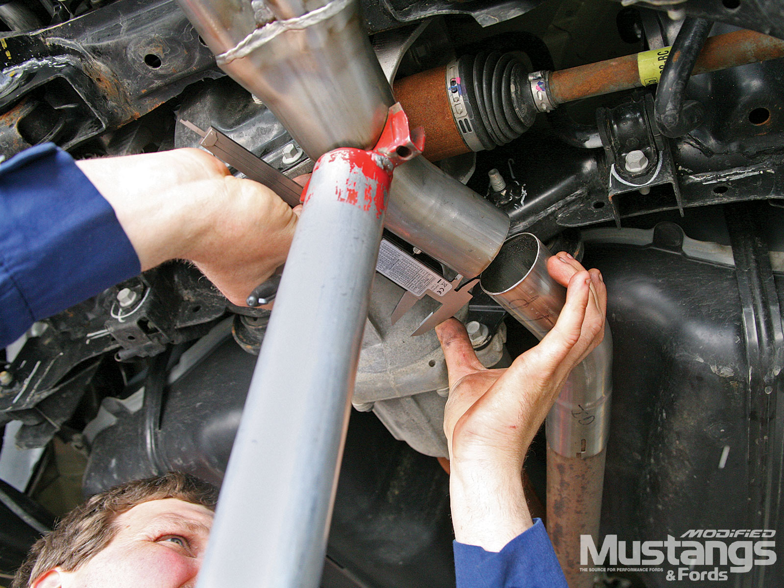 Install Borla Exhaust System Attach Pipes Together