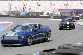 Track Bashing at the Mustang's 55th
